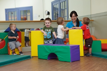 Creative play with foam blocks for preschoolers